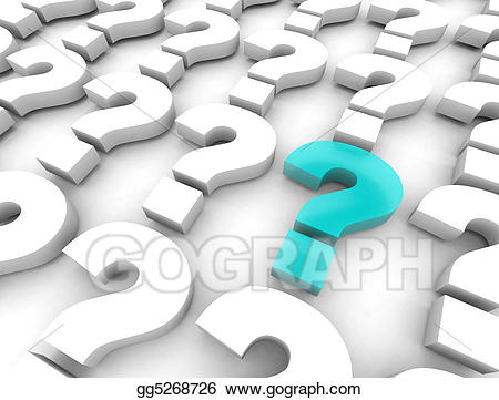clip art freeuse Stock illustrations question . Marks clipart many.