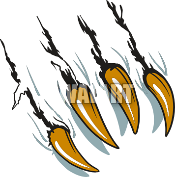 clip royalty free stock Tiger claw science. Marks clipart many.