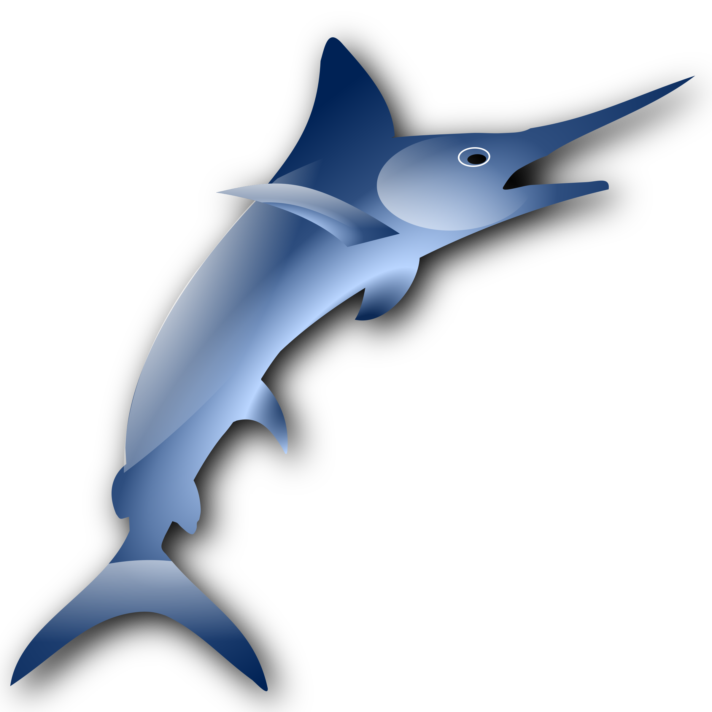 svg freeuse . Marlin clipart.