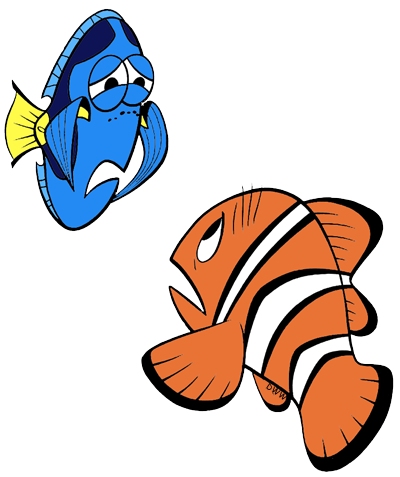 black and white library Finding Nemo Clip Art