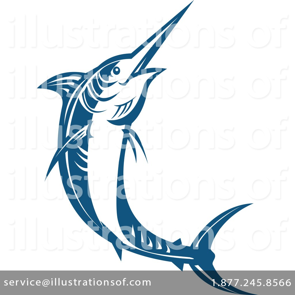 jpg black and white download Marlin clipart illustration. By patrimonio .