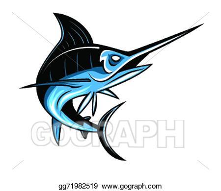 vector free Marlin clipart illustration. Vector stock fish gg.