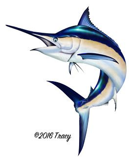 image royalty free Black fishing in fish. Marlin clipart illustration.