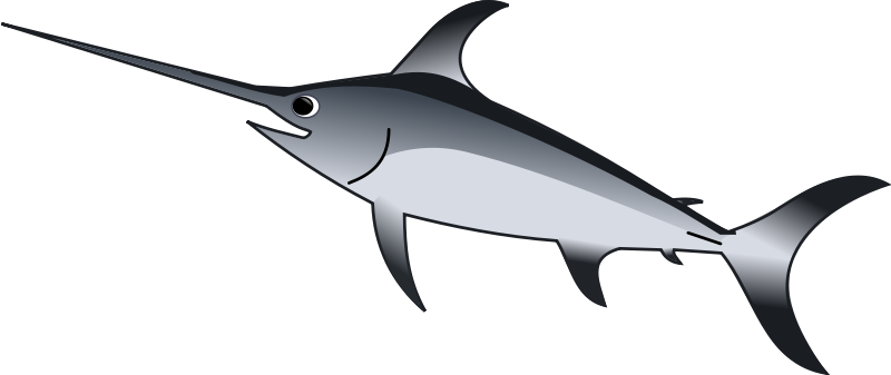 freeuse stock Swordfish jumping free on. Marlin clipart sawfish.