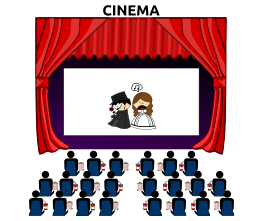 transparent library Free movie panda images. Marquee clipart.