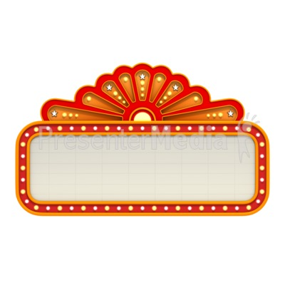jpg royalty free library Marquee clipart. Free movie cliparts download.