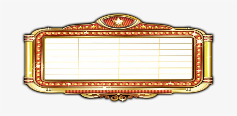 transparent Marquee clipart theatre marquee. Image freeuse classic movie.