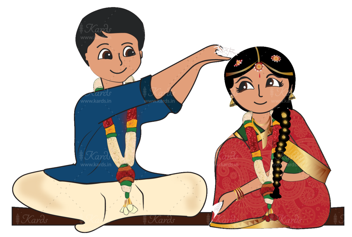 svg transparent library Marriage clipart brahmin. Telugu wedding invitation design.