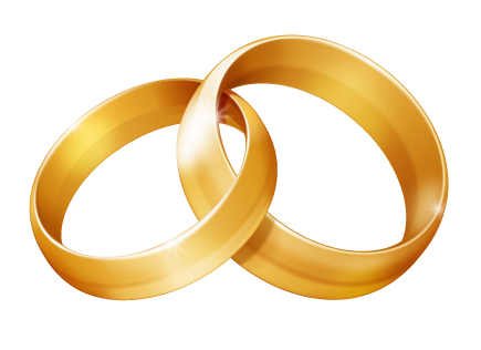 image black and white download Linked wedding rings clipart free clipart images clipartcow