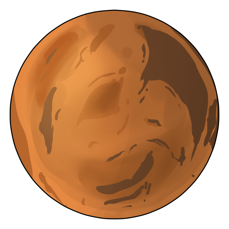 image black and white library Mars clipart. Planet .