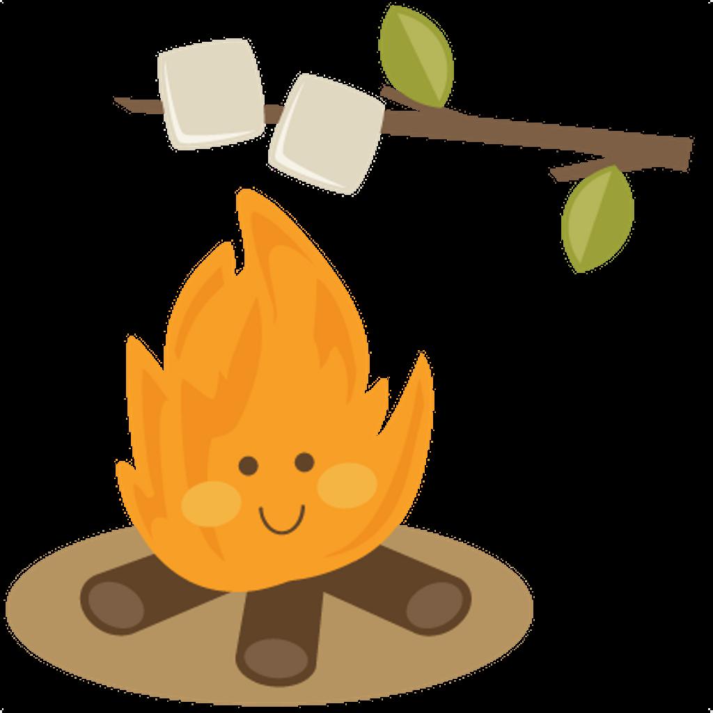 vector transparent stock Bonfire clipart roasted marshmallow. Beet drawing cute
