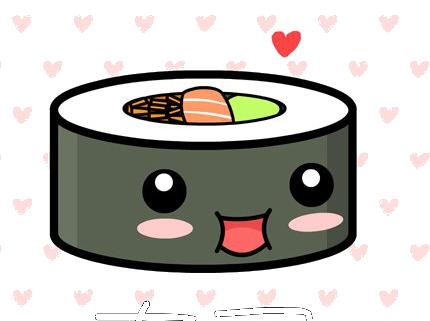 clip Cute kawaii sushi by TrubuteOfDistrict