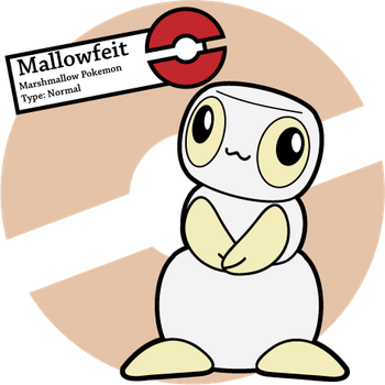 vector freeuse stock Pokemon mallowfeit by sageroot. Marshmallow clipart fake.