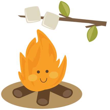 image black and white download Cute Campfire SVG file for scrapbooking roasting marshmallows svg