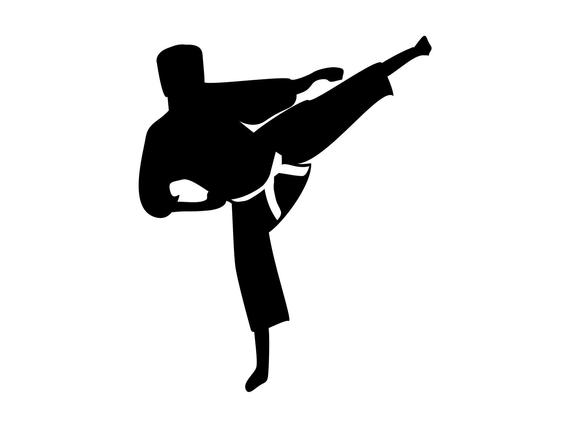 royalty free library Karate svg judo kick. Martial arts clipart.