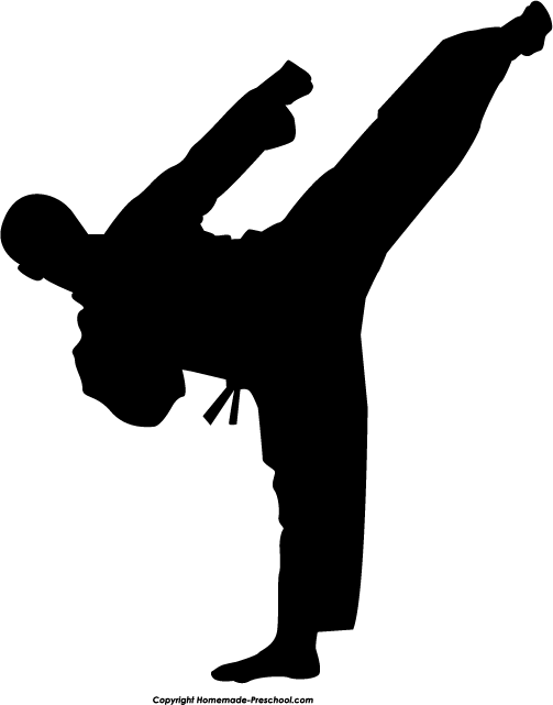 image royalty free library Martial arts clipart. Fun and free silhouette