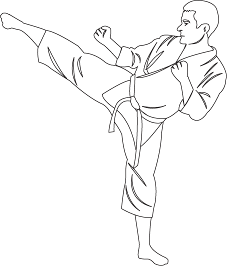 clipart library library Martial arts clipart karate kick. Clipartfort people sports .