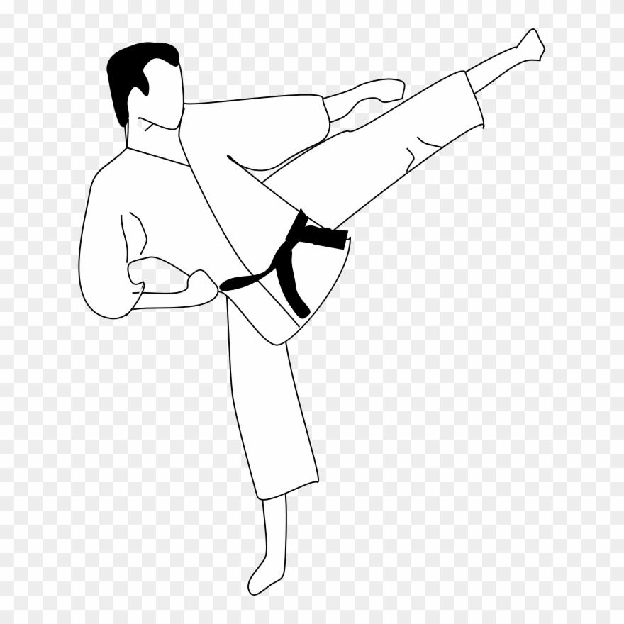 banner freeuse Anonymous kic clip art. Martial arts clipart karate kick.