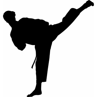 image royalty free Karate clipart person. Free kick silhouette download.