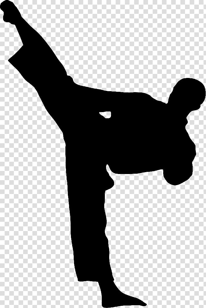 banner freeuse download Man silhouette illustration . Martial arts clipart karate kick.