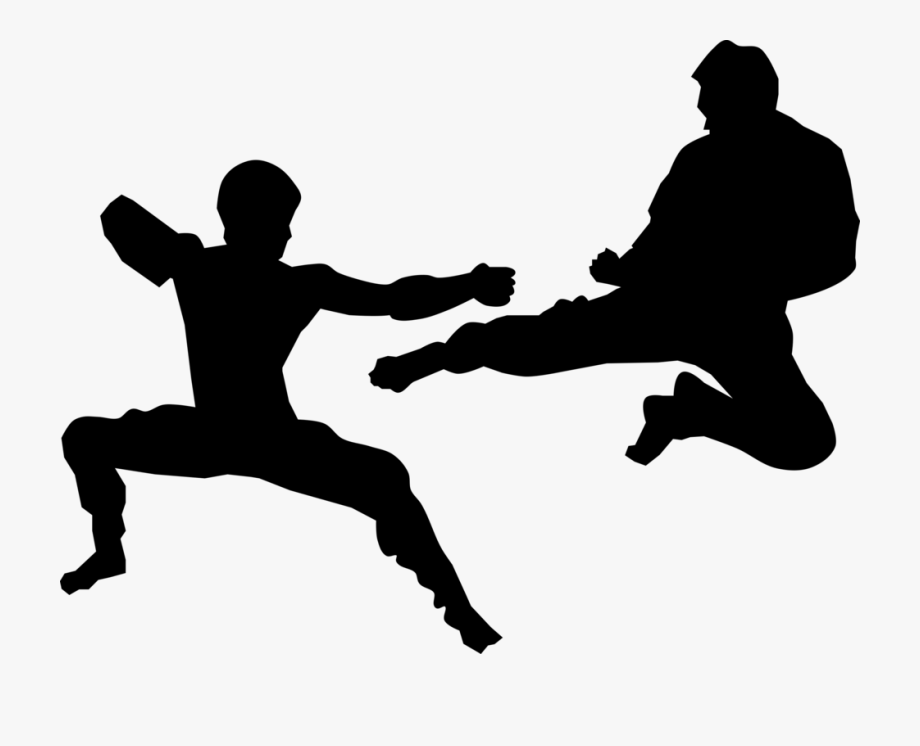 image free stock Mixed taekwondo sparring . Martial arts clipart martail.