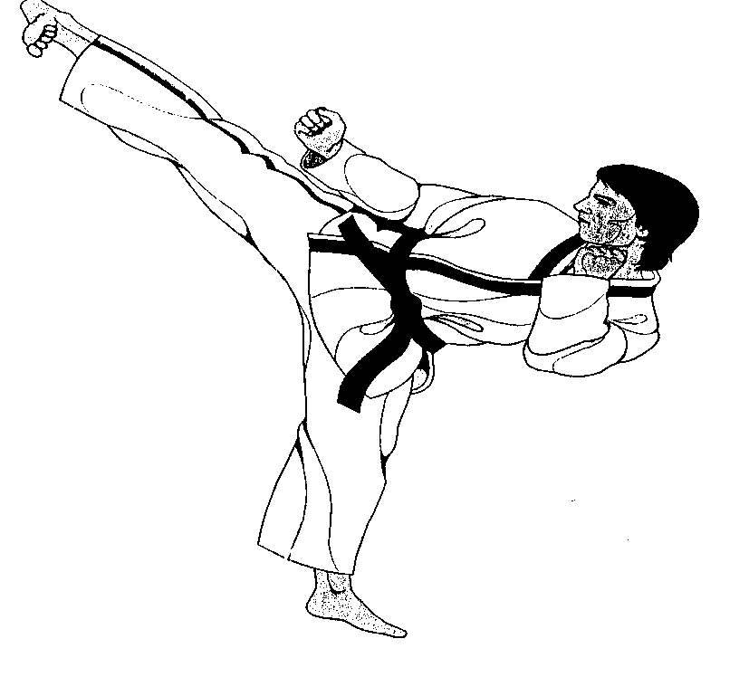 picture freeuse download Martial arts clipart side kick. Sidekick picture clip art