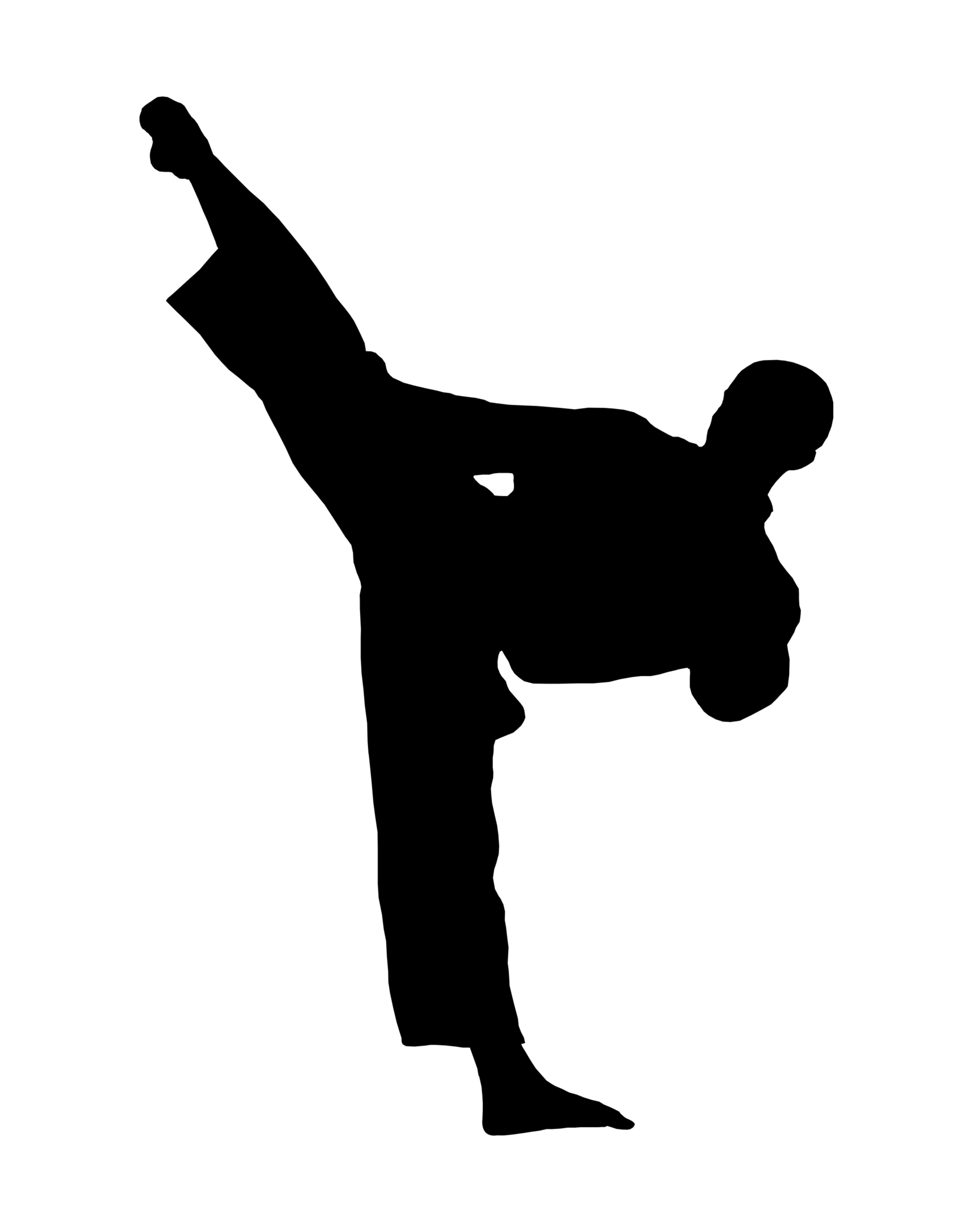 svg free stock Karate kick clipart. Free martial arts download.