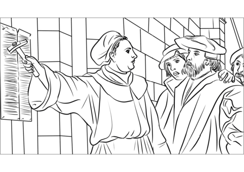 graphic freeuse stock Martin luther clipart 95 thesis. Theses coloring page free.