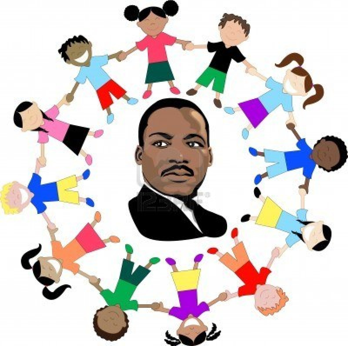 banner black and white Martin luther jr clipart desktop. King day at claverack.