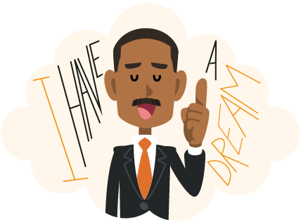 vector transparent library Martin luther jr clipart civil rights movement. Unit study supplement king.