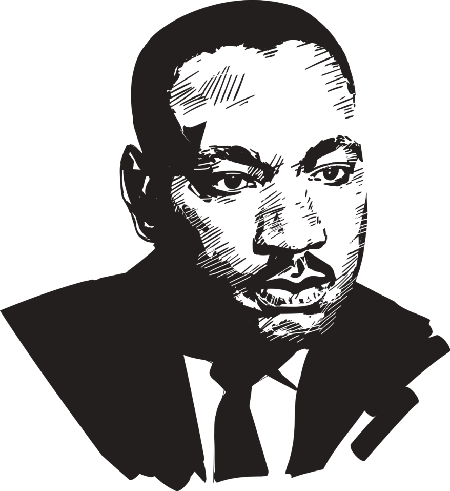 graphic transparent stock Martin luther jr clipart civil rights movement. King day african american.
