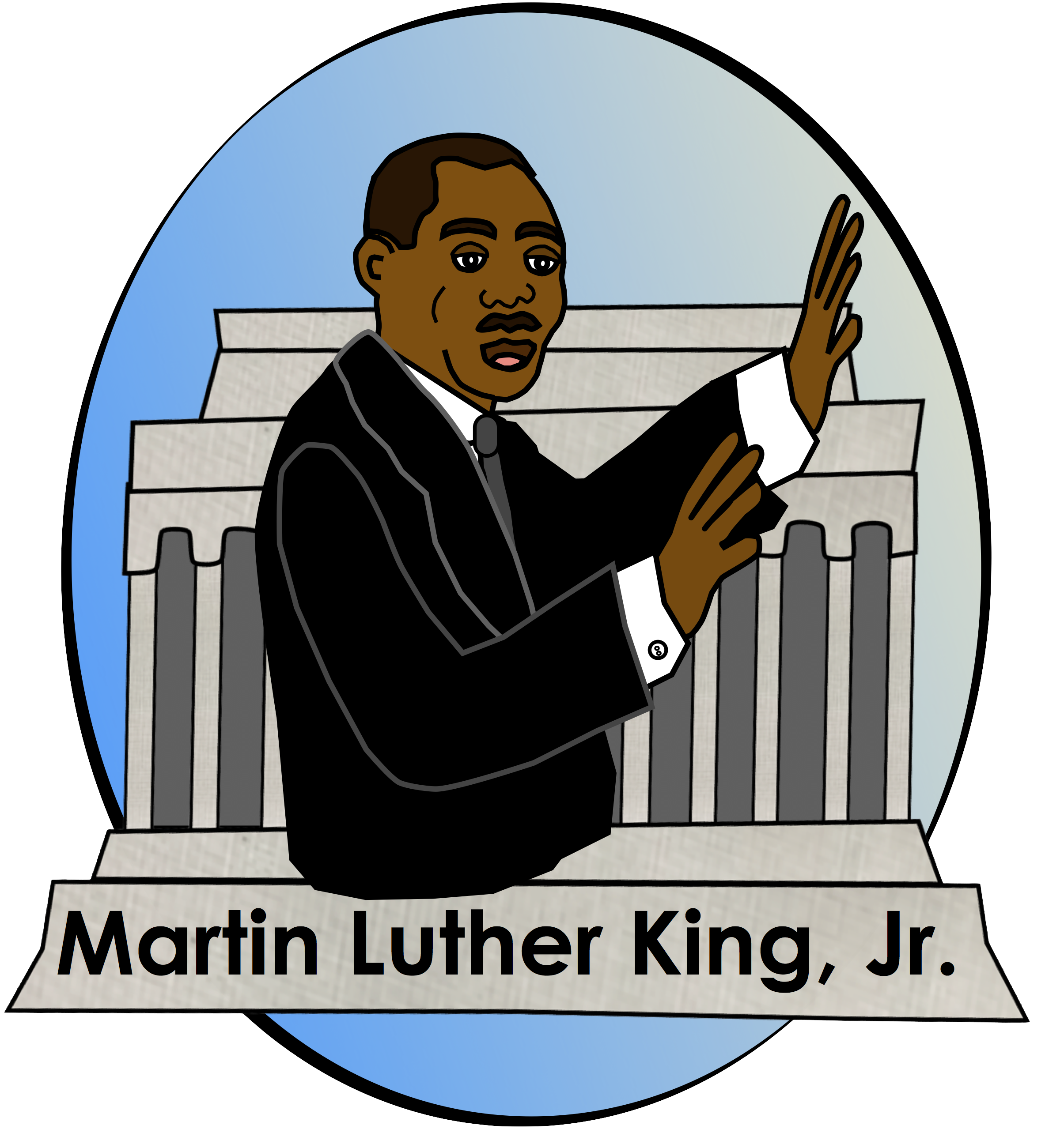 clip black and white library Martin luther king jr clipart. Mlk at getdrawings com
