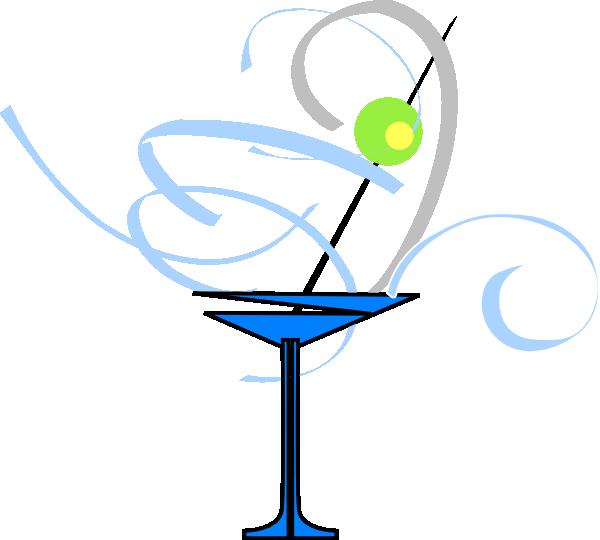 download Martini clipart. Glass blue grey clip.
