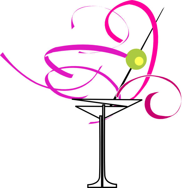 vector black and white Glass clip art at. Martini clipart bachelorette.