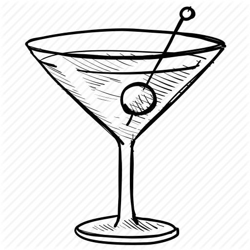 vector freeuse library Martini Glass Drawing at GetDrawings