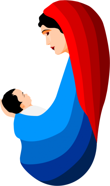 svg library download Mary and jesus clipart nice clip art png