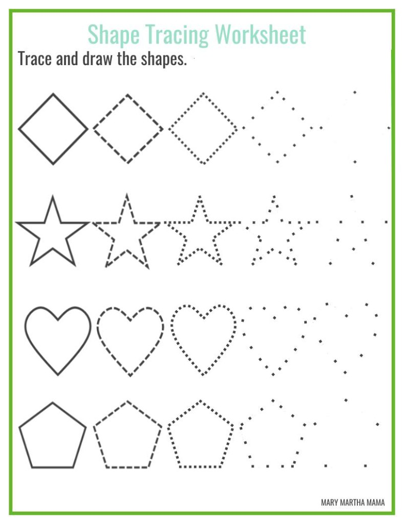 vector black and white library Mary drawing worksheet. Shapes worksheets for preschool