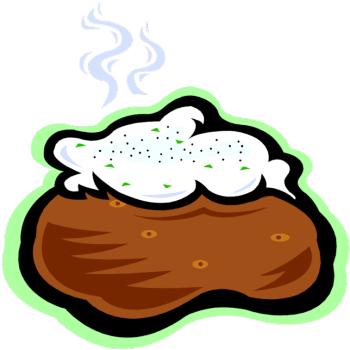 royalty free library Mashed clipart. Baked potato clip art