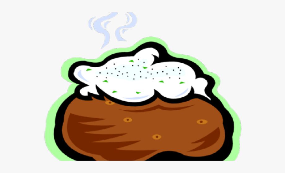 graphic royalty free download Mashed clipart potato bar. Transparent background baked .