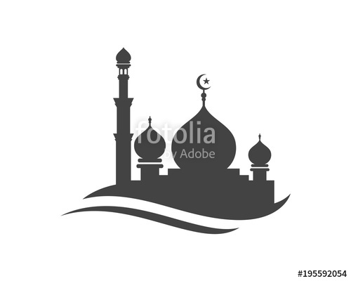jpg freeuse library Mosque icon vector Illustration