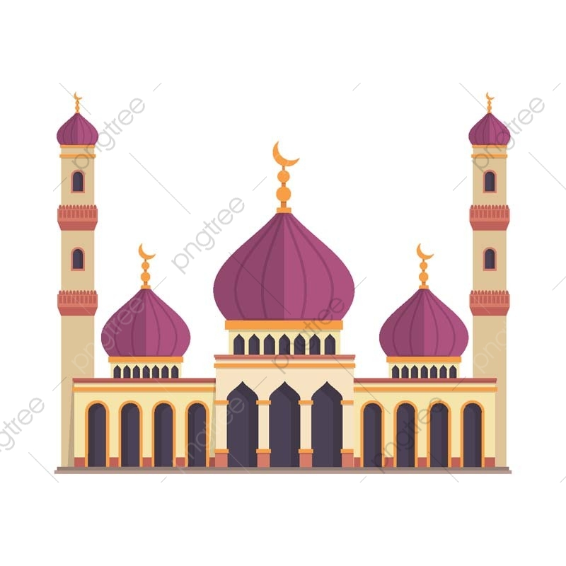 graphic transparent download Modern Flat Elegant Islamic Mosque Building Illustration Eid