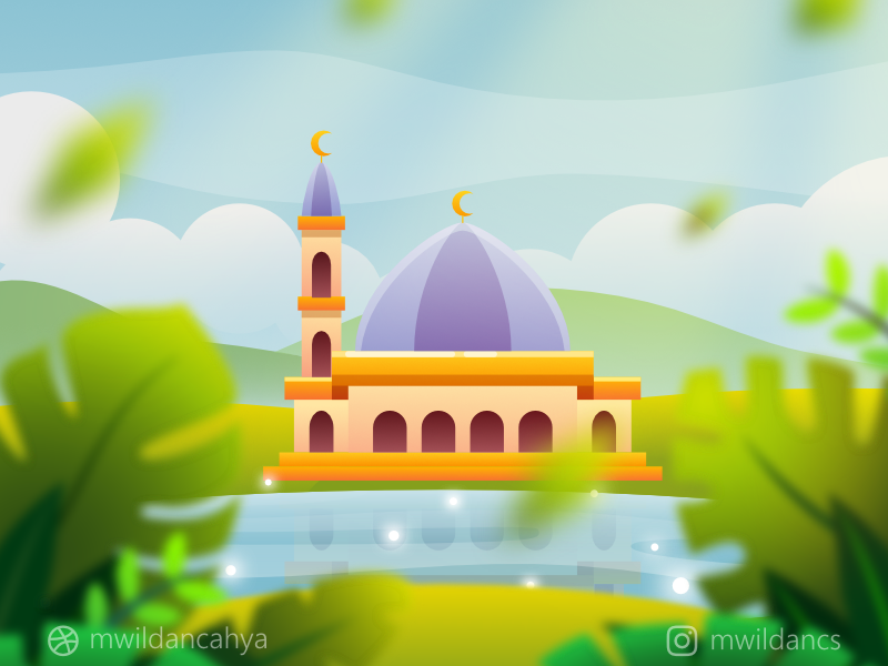 banner transparent stock a Masjid near the Lake by M Wildan Cahya Syarief on Dribbble