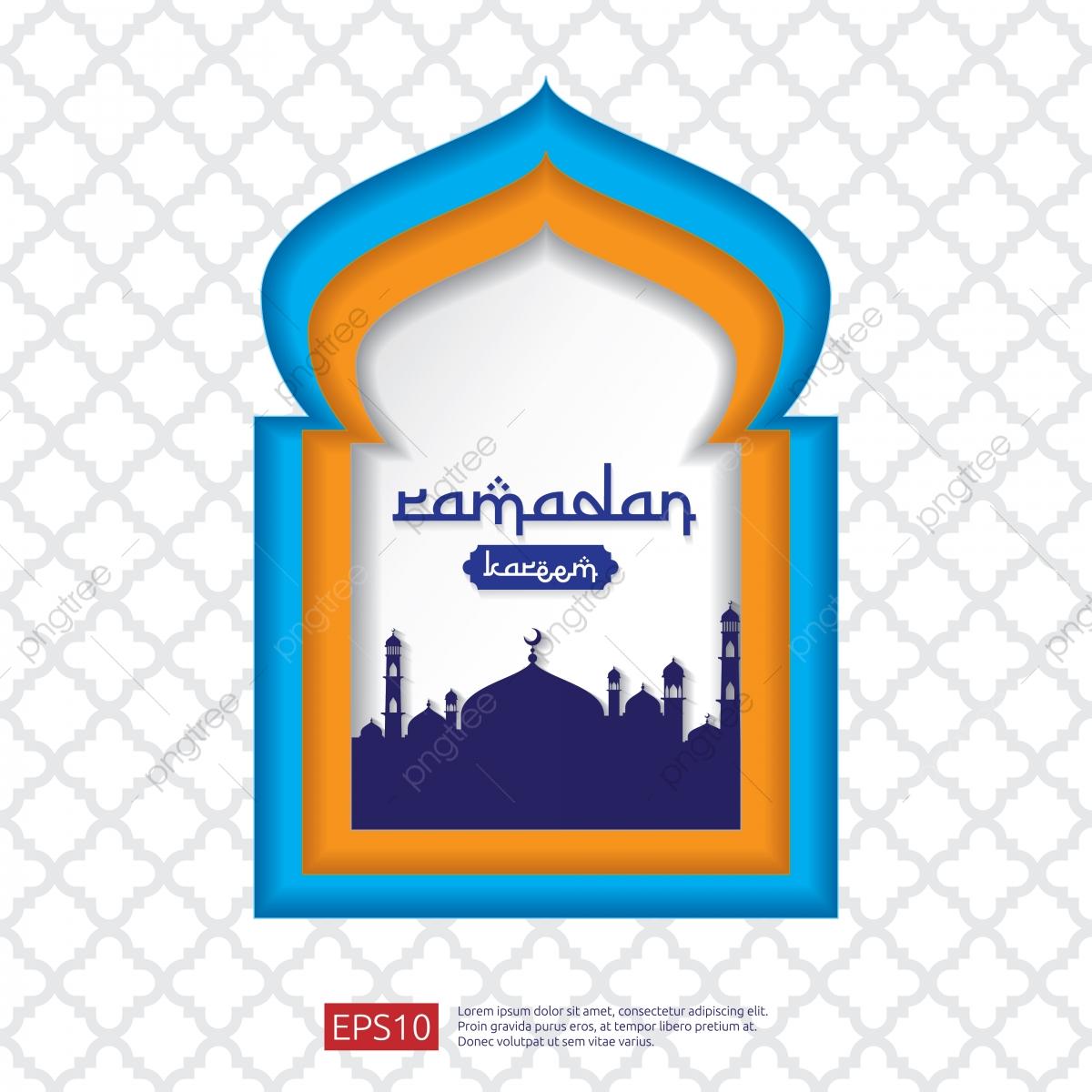 clipart library stock Ramadan kareem or window. Vector door mosque