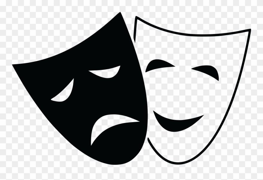 graphic black and white library Mask clipart. Free of theater masks.