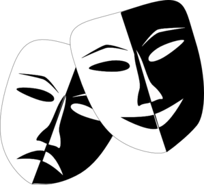 clip art free Theatre masks clip art. Mask clipart.