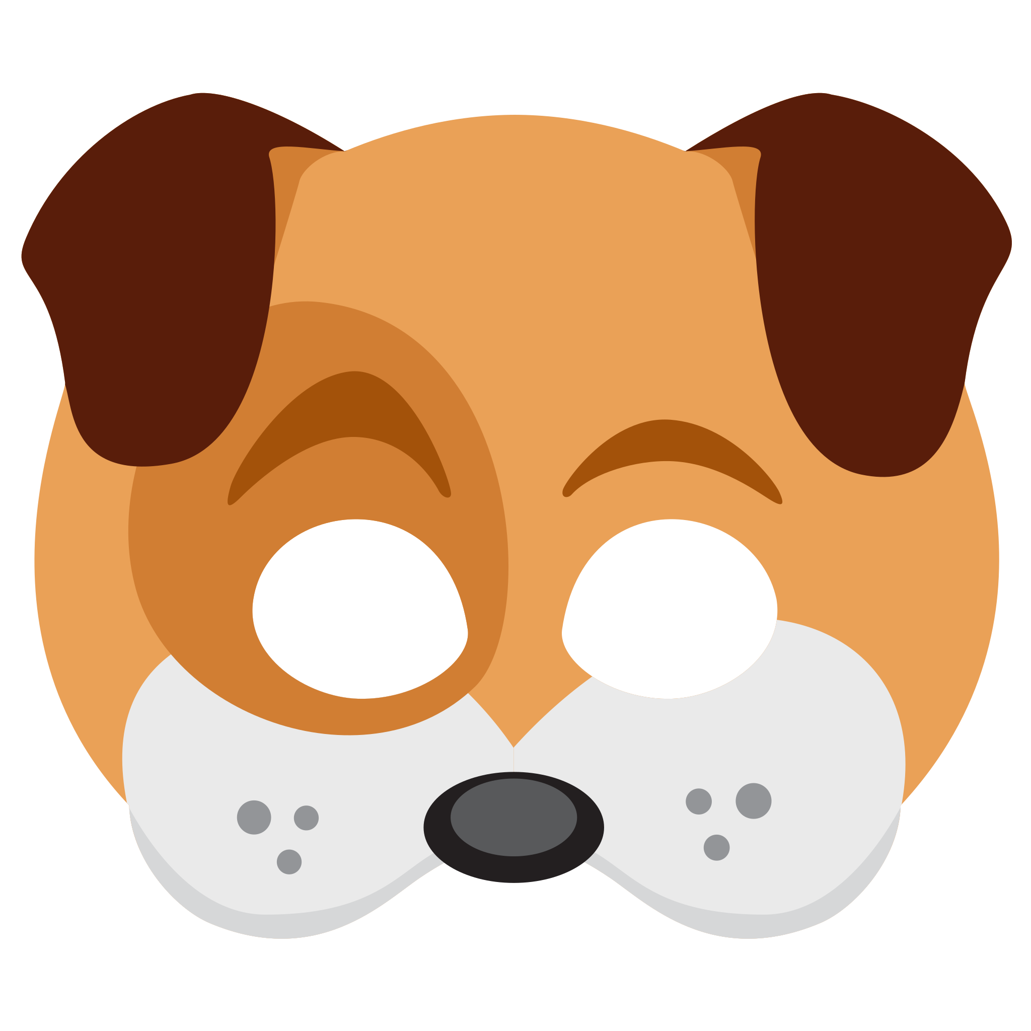 clipart free library Mask clipart animal. Dog face sticker png.