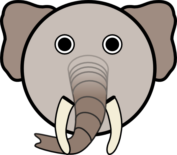 graphic free Elephant with rounded face. Mask clipart animal.