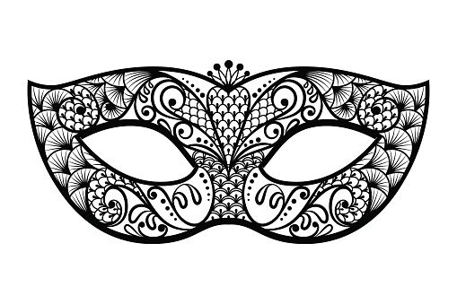 png freeuse download Mask clipart black and white. Mardi gras clipartfest