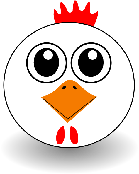 png black and white Chicken Mask Clipart