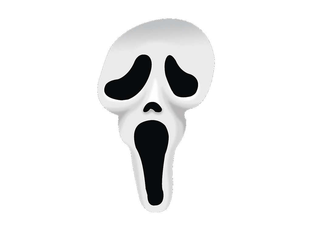 vector free library Mask clipart ghostface. Screaming halloween pencil and.